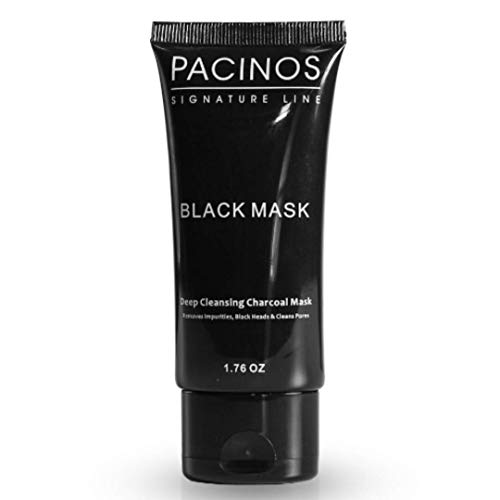 Pacinos Blackhead Remover Deep Cleansing Peel Off Black Mask Active Charcoal Tearing Charcoal Masque, 1.76 oz.