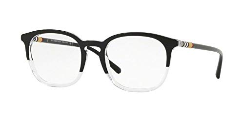 Burberry Men's BE2272 Eyeglasses Top Black On Crystal 53mm