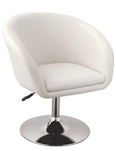 Duhome Fauteuil de Salon Blanc Fauteuil Club Similicuir Fauteuil Cabriolet pivotant Chaise de Salle à Manger réglable en Hauteur sélection de Couleur WY-440