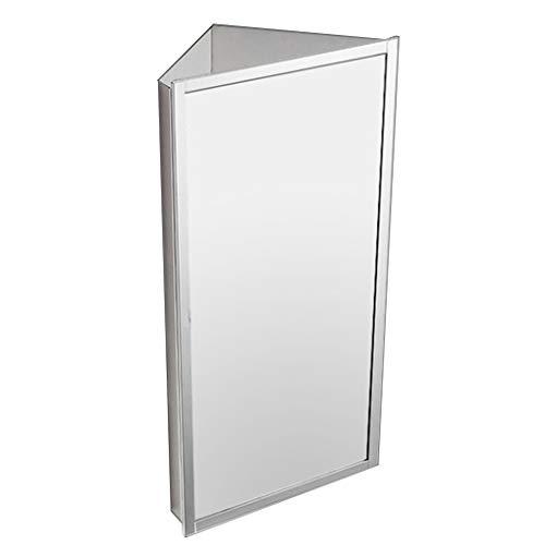LCF Aluminium Medicine Kast met Verstelbare flip-Out Flat Spiegel Wandmontage Hoek Medicine Kast RVS Multifunctionele Keuken Opslag Organizer