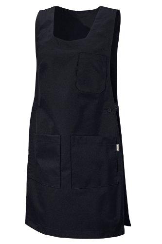 CLINIC DRESS Überwurfschürze Schwarz Knöpfe schwarz M