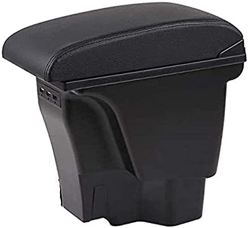 Coche Reposabrazos Caja Apoyabrazos para KIA Rio 3 K2 2011-2016, Con USB Centro Centro Consola Caja de almacenamiento, Automóvil Interio Accesorios