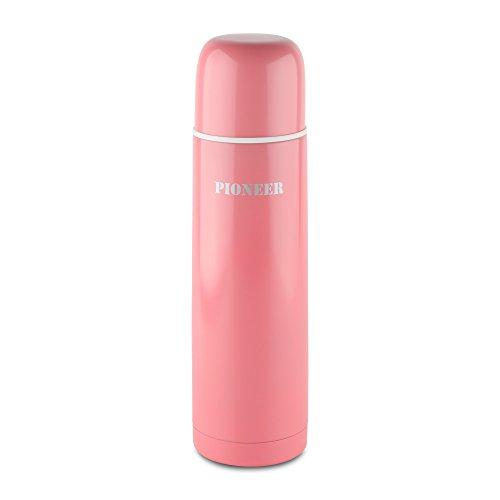 DrinkPod HCF-500P Gourde, Acier Inoxydable, Rose, 500ml / 0,5L