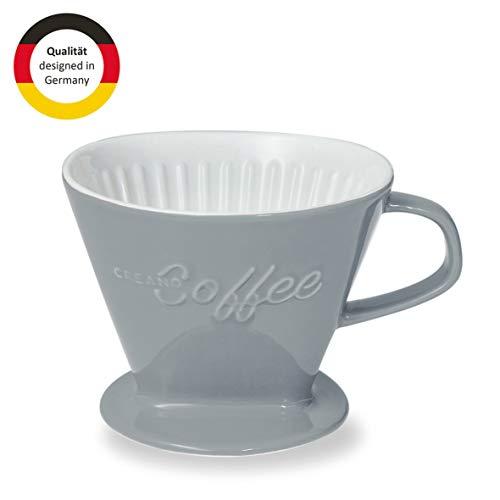 Creano Porzellan Kaffeefilter, Filter Größe 4 (Steingrau) In 6 Farben erhältlich