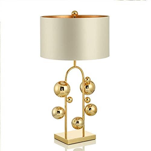 BoMiVa Lámpara de Mesa LED Minimalista Moderno Creativo Personalizado Sala de Estar Dormitorio Lámpara de Mesa de diseño 40 * 70cm Oro (Color: Blanco) (Color : White)