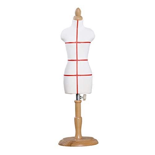 ZWRYW Maniquí Femenino Maniquíes De Costura Maniqui Dibujo Mini Base Redonda Tridimensional Juguete Enseñando Apoyos del Modelo Diseño De Moda Regalo De Cumpleaños (Size : Bust 28cm (1 3))