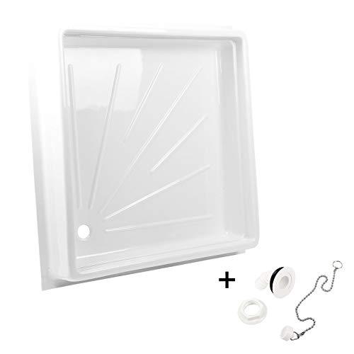 set per piatto della doccia per roulotte e camper, con scarico (L x P x H) 68 x 68 x 10 cm, plastica...