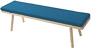 Cojín de banco de cocina de jardín de 5 cm de grosor para muebles de interior y exterior de 2 a 3 plazas, cojín de asiento de silla columpio, colchón, cubierta de silla (120 x 40 x 5 cm, azul oscuro)
