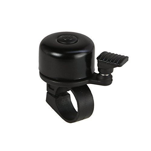 fischer Unisex_Adult Mini Bicycle Bell, Black, standard size