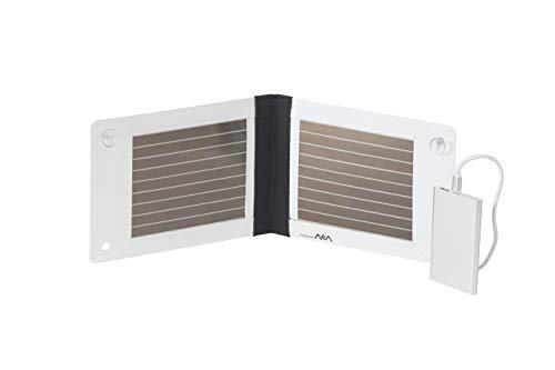 Armor Solar-oplader voor terrein – licht, milieuvriendelijk en veilig – met buigzame organische fotovoltaïsche folie (1,4 W) en externe accu (4000 mAh) – 5 V