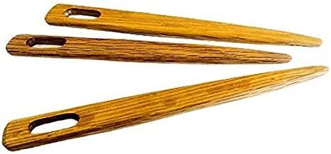 6 Inch Set of 3 Toothbrush, nalbinding, Rug Making, Multi Purpose Weaving Needles