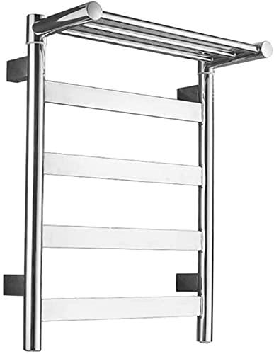 N/Z Equipo para el hogar 450 * 600 MM Termostático Eléctrico Calentador de riel para Toallas Radiador Espejo Pulido Toalleros de baño con Interruptor LED a Prueba de Agua para el hogar o el Hotel