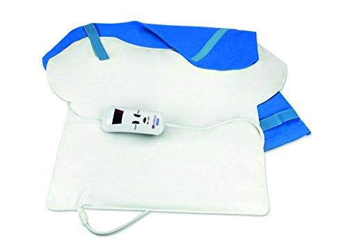 Almohadilla termica espalda - tamaño 57 x 46 cm - potencia 120 w - esterilla electrica térmica para toda la espalda zona cervical, lumbar, cuello - manta eléctrica adaptable