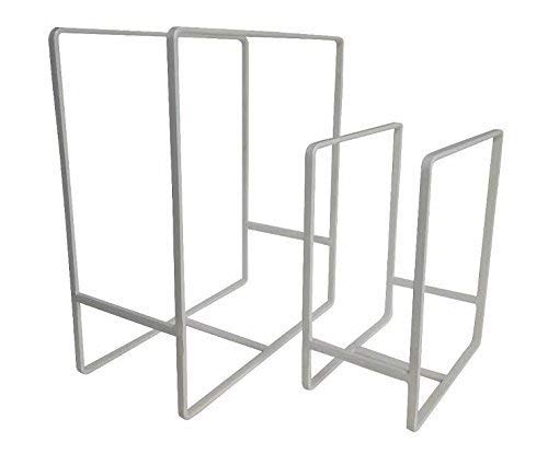 NAOE Steel Plate Organizing Rack (Set fo 2)(White)