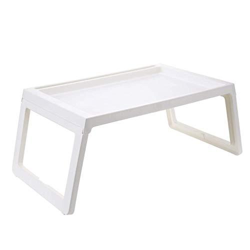 MQJ Cama de Mesa Plegable Tabla Portátil Tabla Lazy Table Mesa Pequeña Mesa Pequeña Dormitorio Simple para Hacer el Mes,Blanco