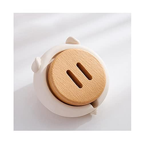 Cenicero Asegurador de Resina con Tapa Cigarte Cenicero para Uso Interior o al Aire Libre Titular de Ceniza a Prueba de Viento para Fumadores para decoración del hogar Ceniceros (Color : White)
