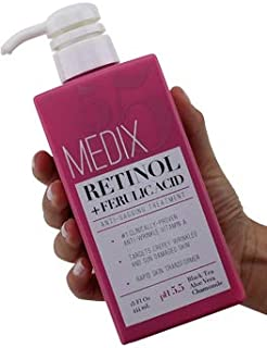 Medix 5.5 Retinol Cream with Ferulic Acid Anti-Sagging Treatment. Targets Crepey Wrinkles..