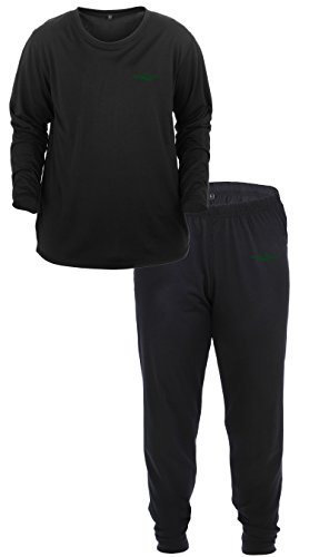 Lucky Bums Youth base layer long sleeve Shirt and Pants, Black, Large
