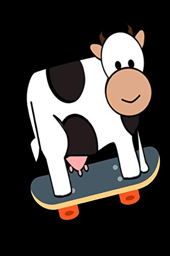 Cow Skateboarding Notebook Journal 120 College Ruled Pages 6 X 9