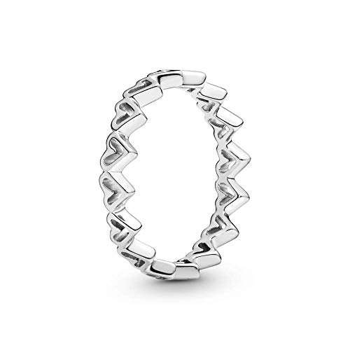 Pandora Damen-Ring Freehand Herzen 198696C00, Silber