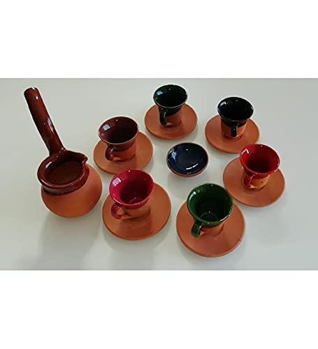 Juego de tazas de cerámica con cafetera de café, soporte mini Turkish Delight con regalo