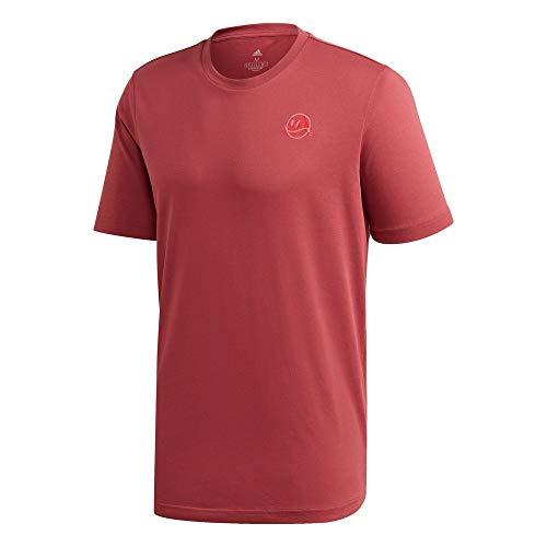 adidas M SS TE FTB Camiseta, Hombre, rojleg, S