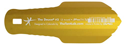 TheTentLab New Improved Deuce(R) Ultralight Backpacking Potty Trowel - Now in 3 Sizes (Gold, 2)