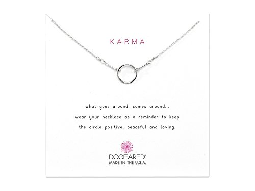 Dogeared Karma Necklace 16 inch Sterling Silver One Size