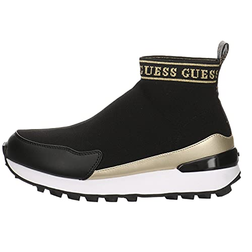 GUESS Sneaker Calzino Logo Black Brown FL7SLZFAB12 39