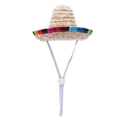 WSJF hond Mexicaanse hoed, Pet zon hoed, modieuze kat stro hoed chique hond Sombrero kat kostuum hoed, perfect voor verjaardag, Kerstmis, verstelbare grootte