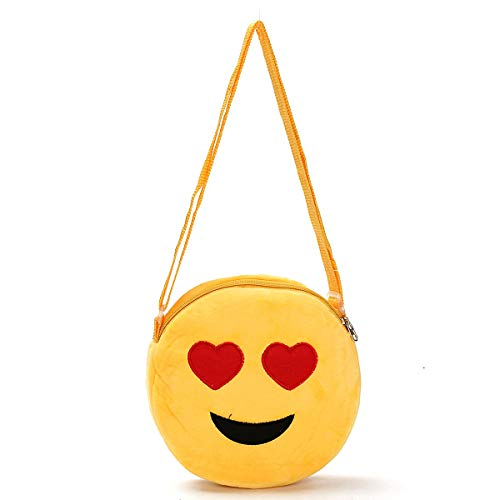 EgBert Niedliche Frauen Mädchen Mini Emoji Coin Purse Case Plush Bag Shoulder Bag Messenger Bag - #01