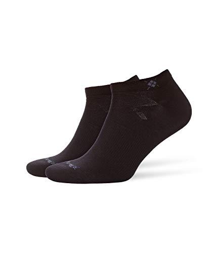 Burlington Herren Everyday 2-Pack M SN Sneakersocken, Blickdicht, Schwarz (Black 3000), 40-46 (UK...