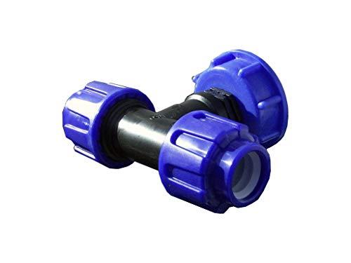 VOXTRADE T-Stück für 25mm Rohr Verbinder für IBC Wassertanks zum Verbinden von IBC Regenwassertanks (25mm)