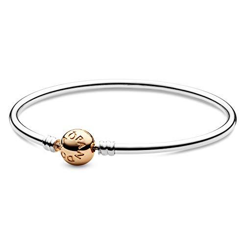 Pandora Jewelry Bangle Charm Sterling Silver And 14k Yellow Gold Bracelet 6 7 Buy Online In Solomon Islands At Solomon Desertcart Com Productid 17276520
