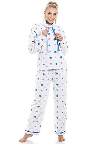Camille Conjuntos de Pijama de Felpa para Mujer Supersoft 36/38 White