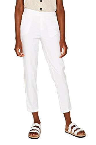 Esprit 069ee1b006 Pantalon, Blanc (White 100), W34/ L28 (Taille Fabricant: 34/28) Femme