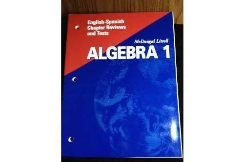 McDougal Littell High School Math Florida: English Spanish Chapter Reviews and Tests Algebra 1