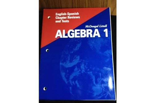 McDougal Littell High School Math Florida: English Spanish Chapter Reviews and Tests Algebra 1