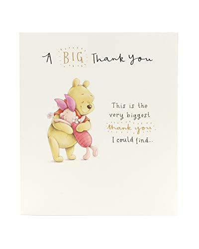 Carlton 606266-0-1 - Tarjeta de agradecimiento de Disney Winnie The Pooh and Piglet