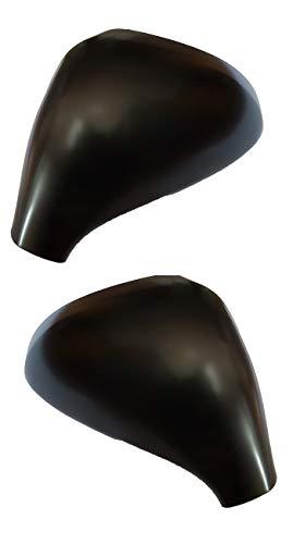 Jeu de capuchons de rétroviseur droit noir laqué pour Peugeo t 207