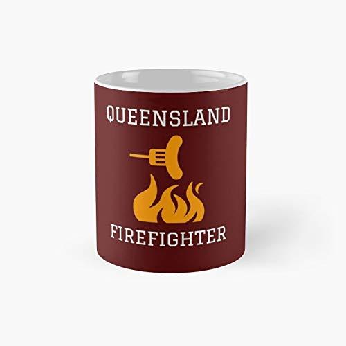 Qld Firefighter's Shirts Classic Mug Best Gift Funny Coffee Mugs 11 Oz