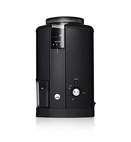 Wilfa SVART AROMA Kaffeemühle - Bohnenbehälter mit einer Kapazität von 250gr, 130 Watt, konische Mahlscheiben, schwarz
