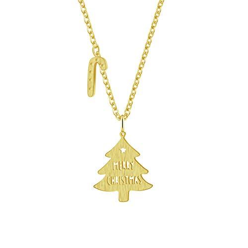 FyaWTM Halskette Choker for Jahr Geschenke Klassische Weihnachtsbaum mit Candy Cane Halsketten für Frauen Modeschmuck