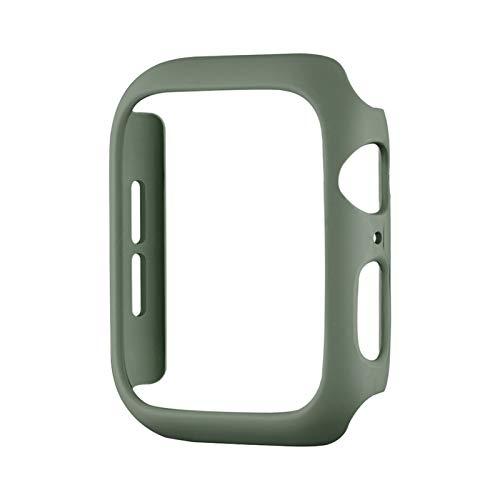 WSGGFA Fashion Color PC Funda Dura para el Reloj de Apple SE Serie Cubierta de la Cubierta 6 5 4 3 Matte Bumper 40mm 44mm 38mm 42mm para cáscara Protectora de iWatch