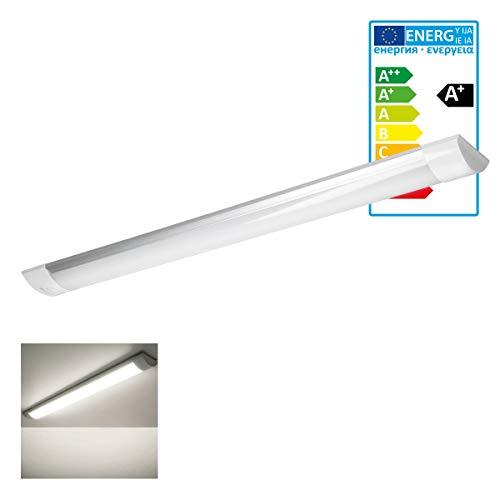 ECD Germany LED Deckenleuchte - 60 cm - 18W - AC 220-240V - 1305 Lumen - Warmweiß 2800K - IP20 Ultraslim - Bürolampe Büroleuchte