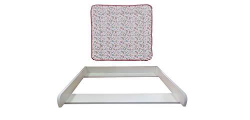 Wickelaufsatz weiß mit Auflage Unicorn rosa für Kommode MALM IKEA