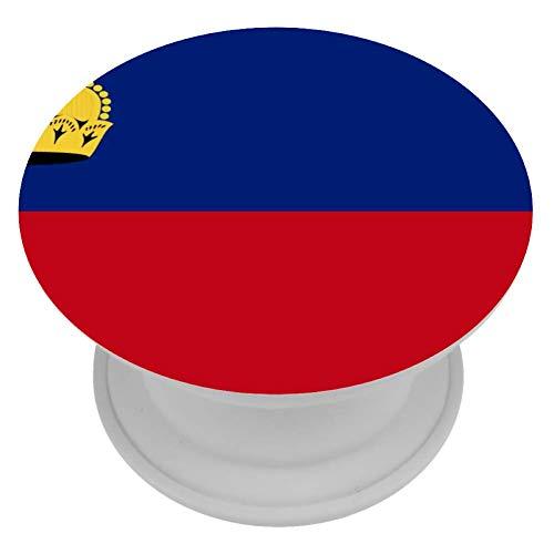 LORVIES Liechtenstein Vlag Mount Houder Uitbreiding Telefoon Popper Grip en Stand Hand Houder Knop voor Cellphone,1 PCS