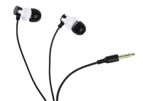 Vivanco MBX 850 Aircoustic Ohrhörer mit Mikrofon (101dB, 1,2m) weiß/schwarz