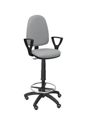 PIQUERAS Y CRESPO t04cp–ergonomischer Hocker, höhenverstellbar, ARO Fußstütze und Rollen, Parquet grau