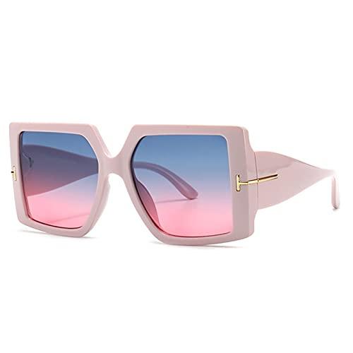 FDNFG Gafas de Sol cuadradas de Gran tamaño clásico Mujeres de Moda Gafas de Sol Negras Degradado Femenino Vintage Grandes Tonos UV400 Gafas de Sol (Lenses Color : 5)